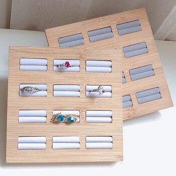 Ring Earrings Display Tray Slot Fashion Jewelry Cufflinks Organizer Holder Case Box Showcase Ring Earring Jewelry Display oirlv luxury silver gray jewelry display tray earring ring pendant necklace display tray holder jewelry showcase box organizer
