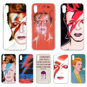 Art david bowie 3D pretty back Etui Transparent Phone Case For iphone 4 4S 5 5C 5S 6 6S PLUS 7 8 X XR XS 11 PRO SE 2020 MAX image