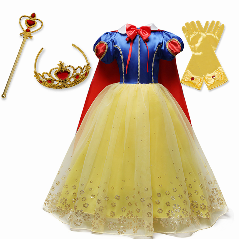 Girls Cosplay Princess Dress Halloween Costume for Children Kids Girls Party Dresses 2