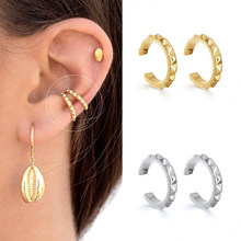 1PC Clip-On Earrings 925 Sterling Silver Exquisite Rhinestone Cartilage Ear Clips Comfortable Charm Ladies Fashion Jewelry