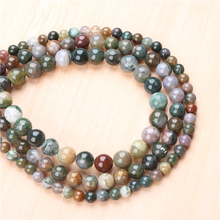 Natural Agate 4/6/8/10/12mm  Bead Round Bead Spacer Jewelry Bead Loose Beads For Jewelry Making DIY Bracelet
