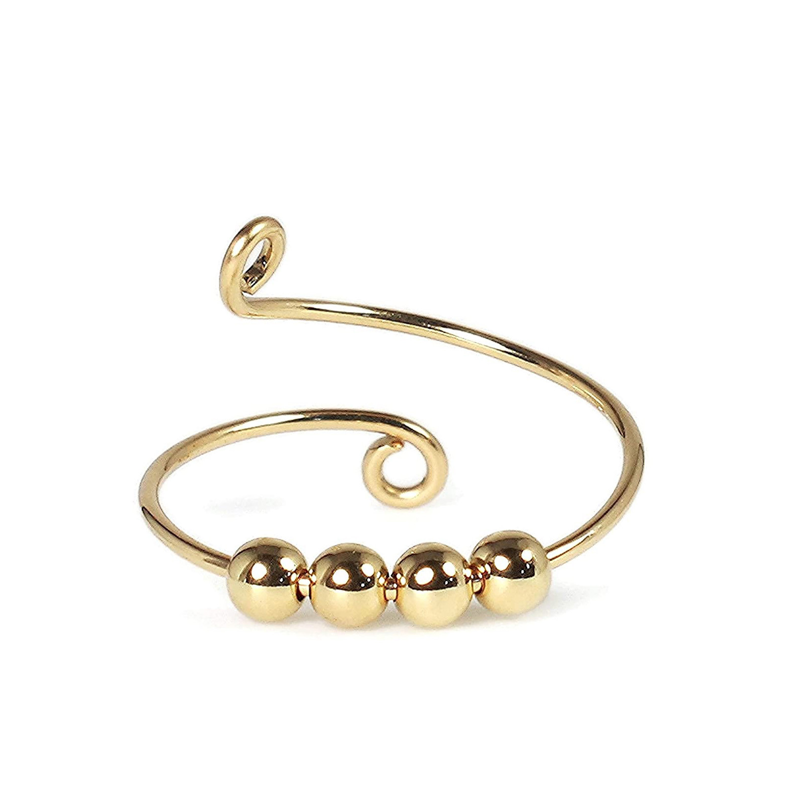 Toy Ring-Beads Fidget-Ring Freely Stress Spiral-Anxiety Rotate Reliever Fingertip Knitting