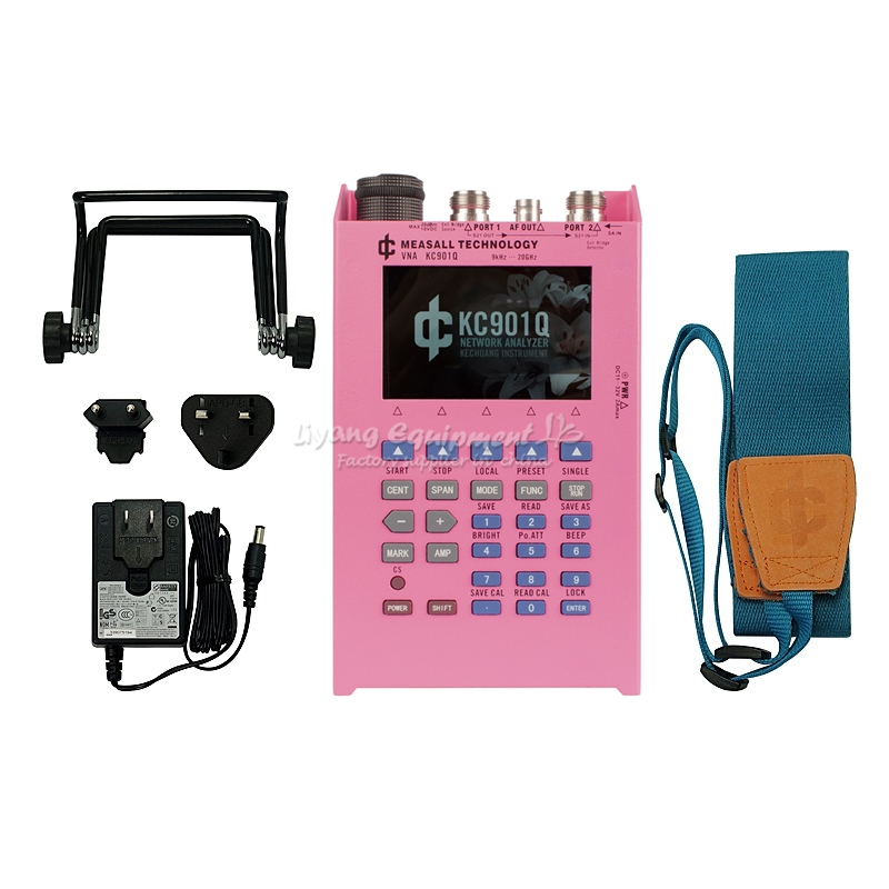 Analizador de red vector rf KC901Q, barredora de vector de ethernet eléctrica portátil de 20GHz para mediciones