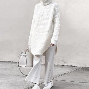 Image 3 - Twotwinstyle韓国側分割女性のセータータートルネック長袖暖かい厚手の女性のセーター2020秋冬ファッション新