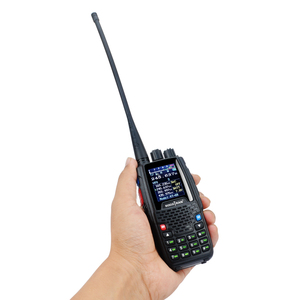 Image 3 - رباعية الفرقة اسلكية تخاطب UHF VHF 136 147Mhz 400 470mhz 220 270mhz 350 390mhz 4 الفرقة يده اتجاهين راديو هام جهاز الإرسال والاستقبال KT 8R