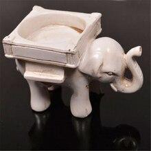 Ретро подсвечник слон слоновой кости подсвечник слоновой кости свадебные бар вечерние домашний декор стабильный подсвечник Винтаж канделябры