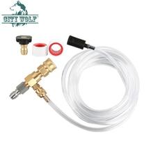 3/8 conector de engate rápido válvula de tubo de sabão sabão de sucção ajustável e acessório lavadora de alta pressão de injeção de produtos químicos