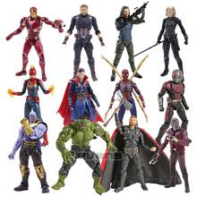 SHF kapitan ameryka gwiazda Lord doktor Strange Thanos Iron Man Ant Man czarna wdowa Hulk Thor akcja figurka zabawka tanie tanio Disney Model CN (pochodzenie) Unisex 14cm not for children under 3 years Remastered version 5-7 lat 8-11 lat 12-15 lat Dorośli