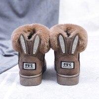 Зимние женские ботинки; зимние ботинки с бантом; однотонные женские ботильоны; женская повседневная обувь без застежки с круглым носком; ...