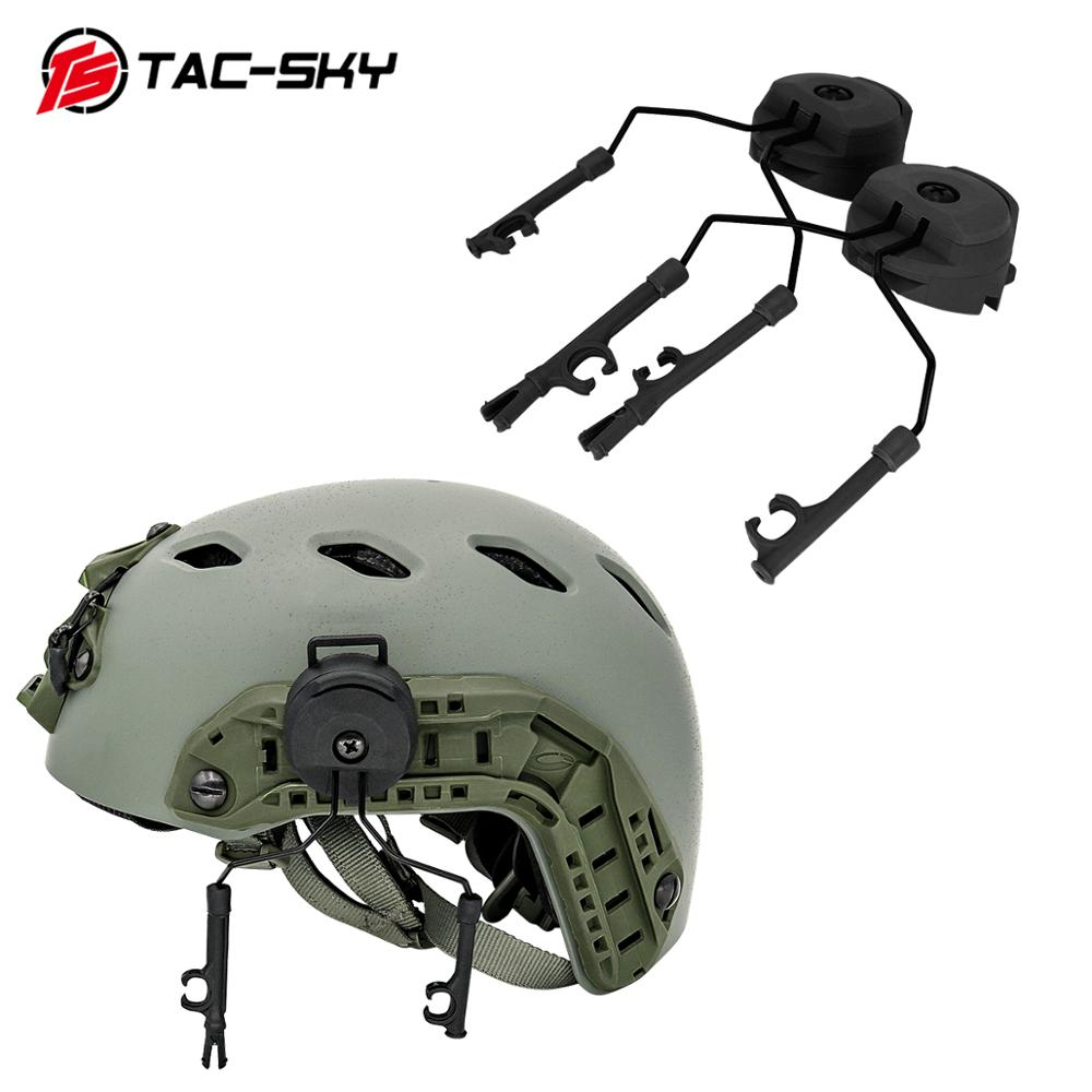 Military Tactics Peltor Helmet ARC OPS-CORE Helmet Track Adapter Headphone Bracket And Fast Action Core Helmet Rail Adapter - BK