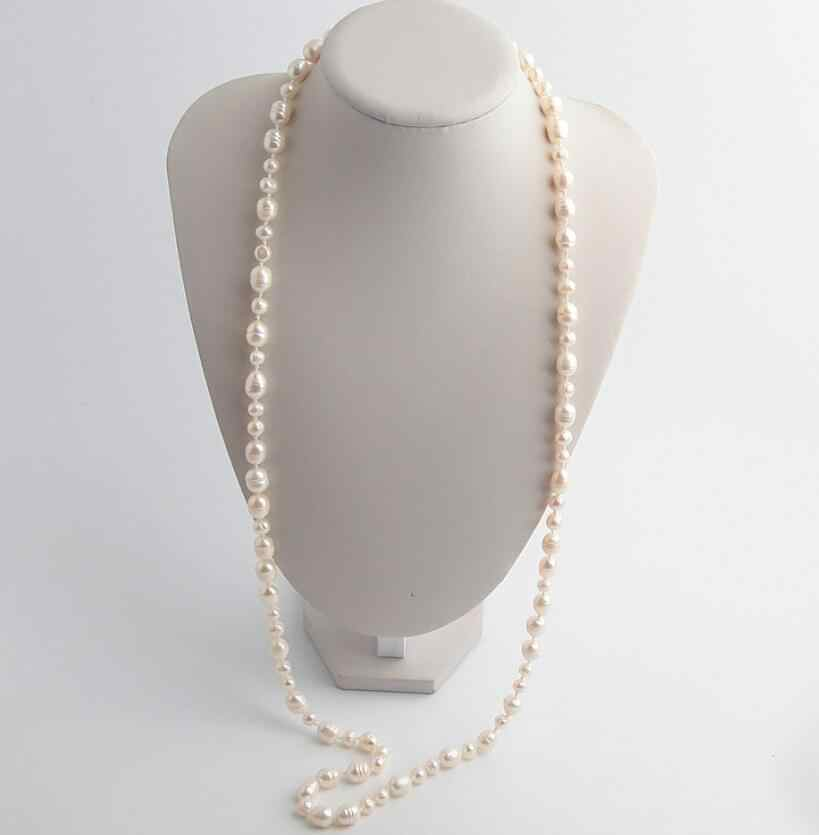 CSxjd Luxury Natural Baroque Pearl Long Necklace