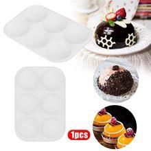 Molde de silicone, molde de cozimento para fazer chocolate, bolo, geléia, cúpula m ^ ousse molde pan decoração ferramentas cozinha cozimento acessórios