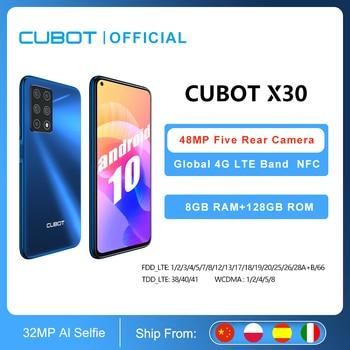 8GB Smartphone Cubot X30 NFC 48MP Five Camera 32MP Selfie 128GB ROM 6.4 1