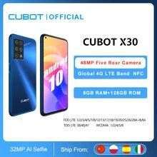 "8GB الهاتف الذكي Cubot X30 NFC 48MP خمسة كاميرا 32MP Selfie 128GB ROM 6.4 ""FHD + full view النسخة العالمية هيليو P60 الهاتف المحمول OTG"