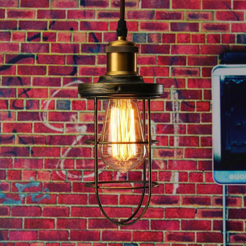 Винтажная Люстра для прихожей, железный подвесной светильник, светодиодный светильник для жилых помещений, кухонная люстра - 6