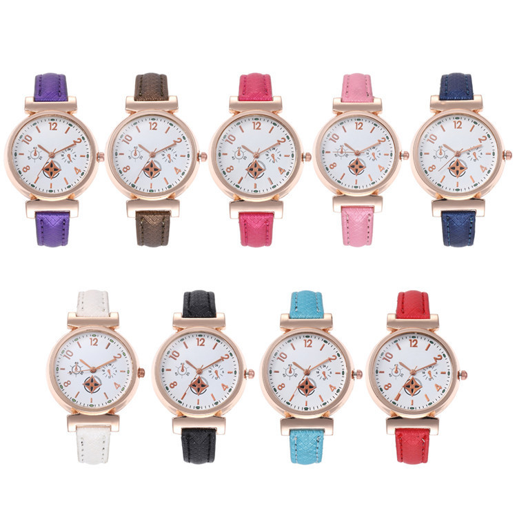 Fashion Belt Series Bracelet Watch Multicolor Fine Round Watch Joker Lady Wrist Watch