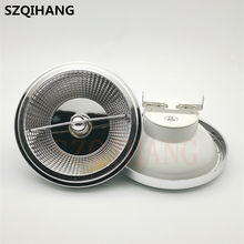Dimmable LED AR111 Lamp 15W 220V 12V GU10 G53 Base Substitute Halogen Lamps LED Downlight ES111 Bulbs COB Spotlight Warm White