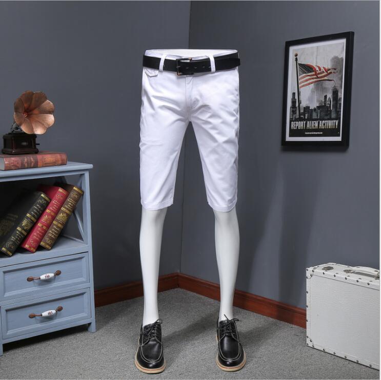 WZX40  Men's Shorts South Korean Version Trim Fashion New Pure Color Leisure High-end Multi-color