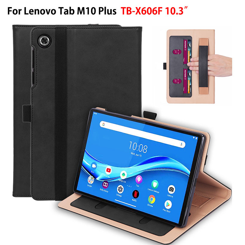 Luxury Case For Lenovo Tab M10 FHD Plus 10.3 inch Cover Funda TB-X606F Hand Holder Stand Skin Shell Capa +Gift