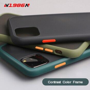 N1986N Pour iPhone 11 Pro X XR XS Max 7 8 Plus Luxe Contraste Couleur Mat Dur De Protection PC Pour iPhone 11 Cas 1