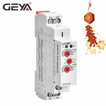 GEYA Over Voltage and Under Voltage Protection Relay DC12V 24V 48V 220V 10A Voltage Protector Relay GRV8-02 free shipping geya grv8 01 adjustable over voltage or under voltage relay 12v 48v 110v 220v 240v voltage control relay