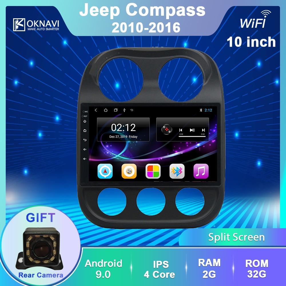 OKNAVI 9 дюймов 2.5D Android 9,0 автомобильный DVD GPS плеер для JJEEP Компас Патриот 2010-2016 автомобильный Радио стерео головное устройство навигация IPS