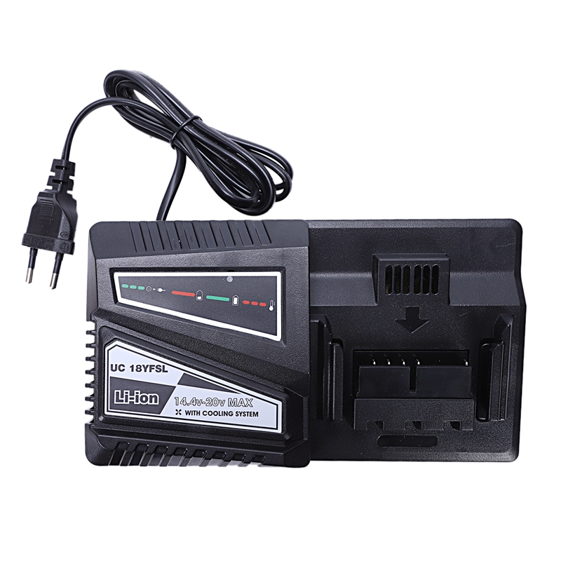 NEW 14.4/20V(Max) 4.5A Lithium Battery Charger For Hitachi Uc18Yfsl Bsl1415 Bsl1420 Bsl1430 Bsl1440 Bsl1450(Eu Plug) Chargers     - title=
