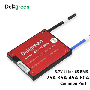 Image 1 - 6S 20A 30A 40A 50A 60A 24V PCM/PCB/BMS יציאה משותפת עבור 3.7V LiNCM סוללות 18650 Lithion יון הגנת לוח