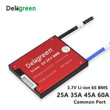 6 s 20a 30a 40a 50a 60a 24 v pcm/pwb/bms porta comum para 3.7 v lincm bateria pacote 18650 lithion ion bateria proteção placa