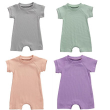 2020 Cute Toddler Infant Newborn Baby Rompers Boys Girls Fine Pit Jumpsuit Summer Playsuit One-pieces Outfits Clothes 0-24M