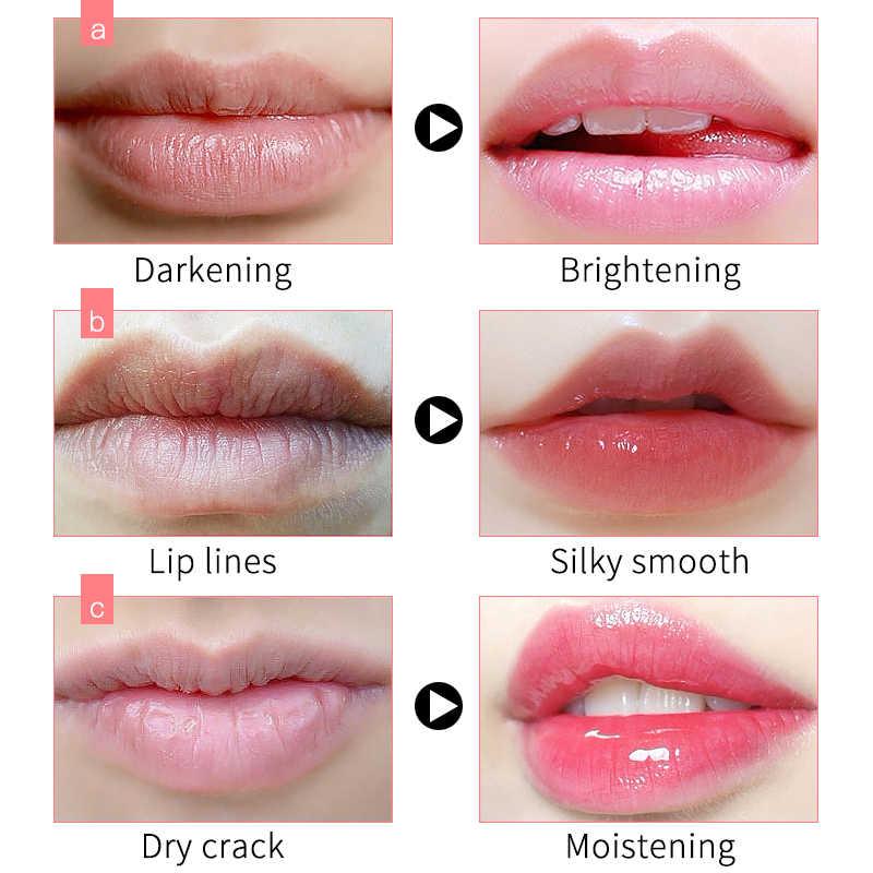 Maschera labbro Per Paffuta Labbro Essenza di Umidità Pianta Estratto di Fiori di Esfoliante Anti-Invecchiamento Macchia lip pellicola 20g