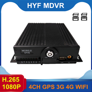 Factory Wholesale Lte 4 Channel H.264 Mobile Dvr 4G 3G GPS WIFI Mdvr image