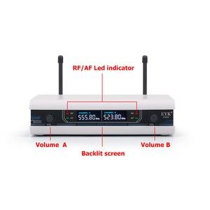 Image 2 - Eyk E3002 Professionele Uhf Karaoke Draadloze Microfoon Systeem Lange Range Dual Metalen Handheld Mic Zender Met Mute Functie