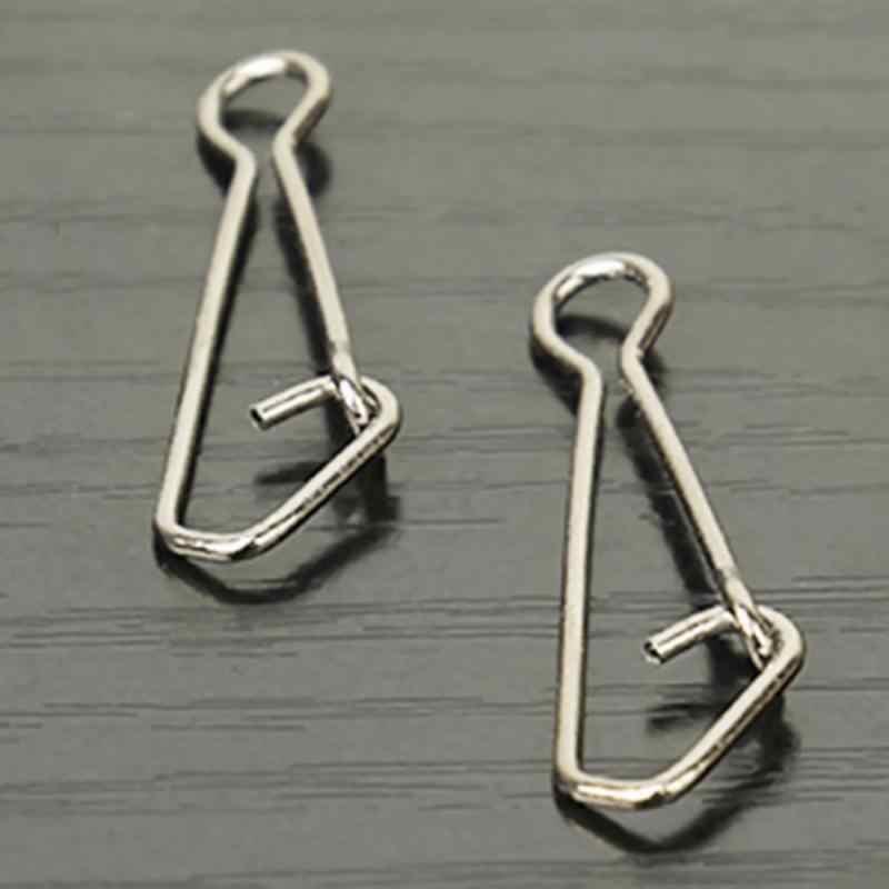 50Pcs Bantalan Ketagihan Snap Pin Rolling Putar Konektor Uji Stainless Steel Memancing Snap Laut Memutar Kait 0/3/4/5/6 #