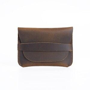Moterm, 100% натуральная кожа, держатель для кредитных карт, винтажный держатель для визиток, Ретро стиль, мужские кошельки, кошельки, бесплатная ...