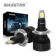 2 шт., Автомобильные светодиодные лампы H1 H4 H7 H8 H11 9005 9006 HB4 HB3 9012 CSP 72 Вт 7000 лм