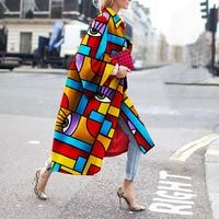 Coat Female Autumn Winter Women Jacket Retro Ethnic Style Fashion Slim Embroidery Print Long Sleeved Cardigan Coat Female Jacket