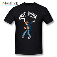 Scott Pilgrim T Shirt T-Shirt Man 100 Percent Cotton Tee Streetwear Cute 6xl Printed Short Sleeve Tshirt