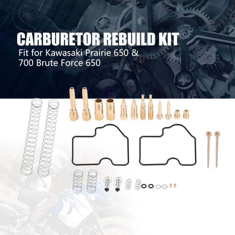 Carburetor Rebuild Kit for Kawasaki Prairie 650 700 Brute Force 650 2005-2009