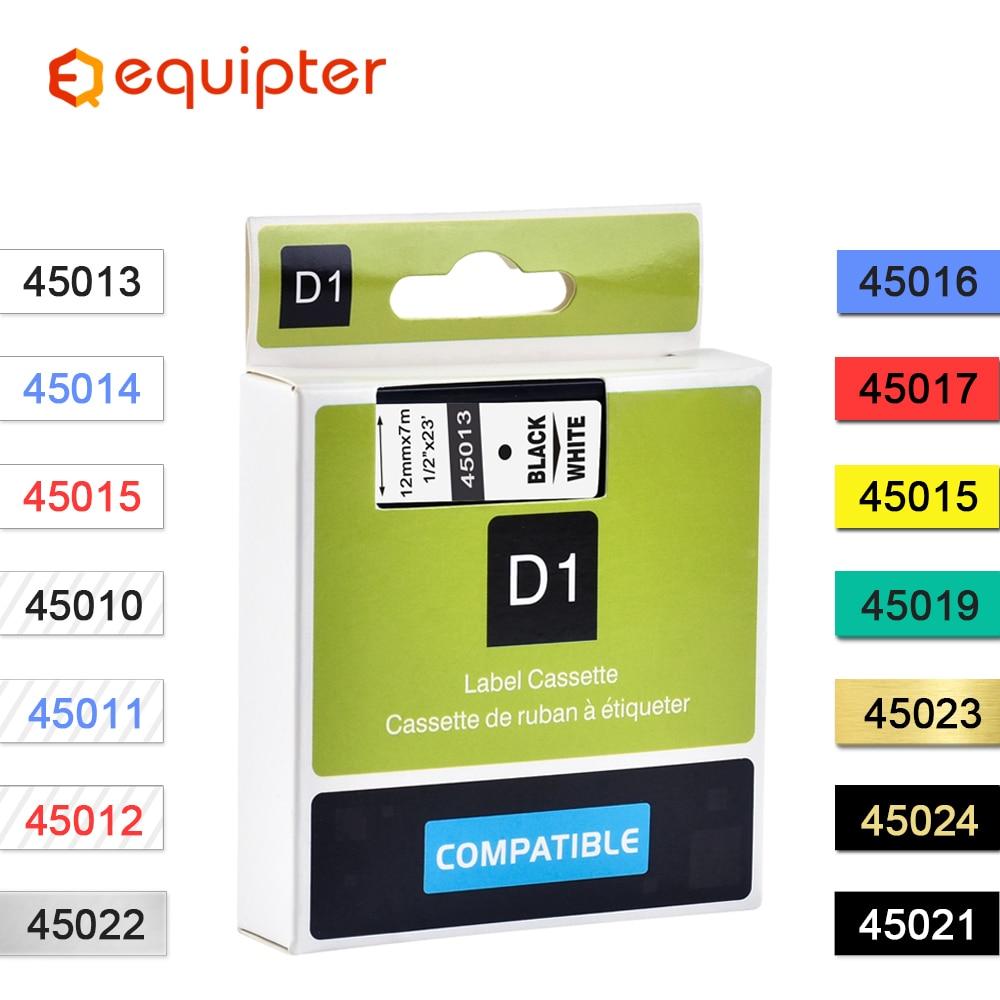 Compatible Dymo D1 12mm Tapes 45010 45013 40910 40913 43613 43610 Ribbon Cassette For Dymo Label Manager LM 160 280 Label Maker