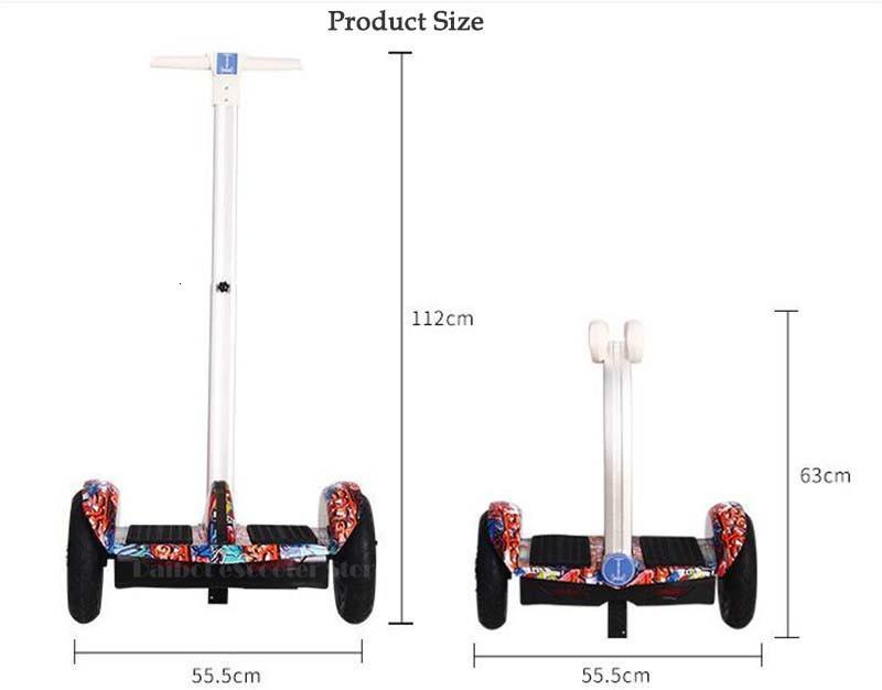 Daibot 2 Wheel Electric Scooter Self Balancing Scooters 10Inch 36V Adult Kid Hoverboard Skateboard With Bluetooth Speaker  (4)