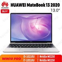 الأصلي هواوي MateBook 13 2020 كمبيوتر محمول 13 بوصة إنتل كور i5 10210U/i7 10510U 16 جيجابايت LPDDR3 512 جيجابايت SSD MX250 ويندوز 10 برو