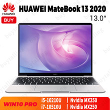 Original HUAWEI MateBook 13 2020 Laptop 13 inch Intel Core i5 10210U/i7 10510U 16GB LPDDR3 512GB SSD MX250 Windows 10 Pro