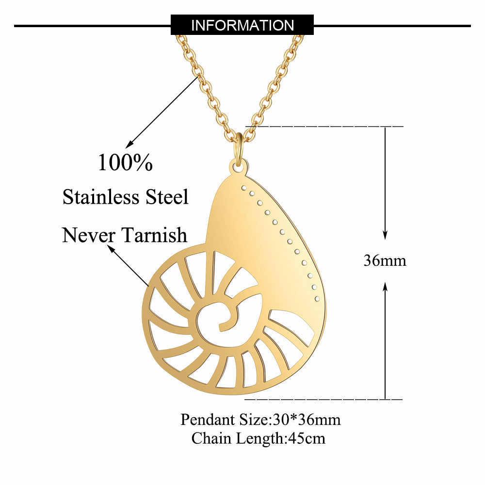 100% prawdziwe ze stali nierdzewnej pusta morze muszla naszyjnik włochy projekt Trend biżuteria naszyjniki osobowość biżuteria Super jakość