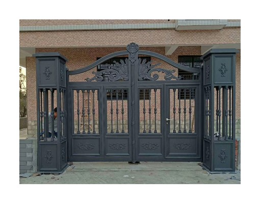 Western European Aluminium Iron Gate Fence Designs Barrier Gate With Remote Control Gate Lock