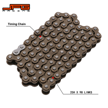 Motorcycle 25H X 98 LINKS Cam Camshaft Timing Chain Master links For HONDA CB125S 78-85 CT125 TRAIL 125 77 XL125 XL125S KLX125 L image