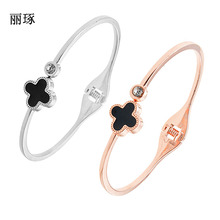Korean fashion lucky clover pop bracelet female jewelry watch
