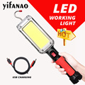 LED Work Light Powerful Portable Lantern Hook Magnet Camping Lamp COB USB Rechargeable 18650 Flashlight Torch Waterproof