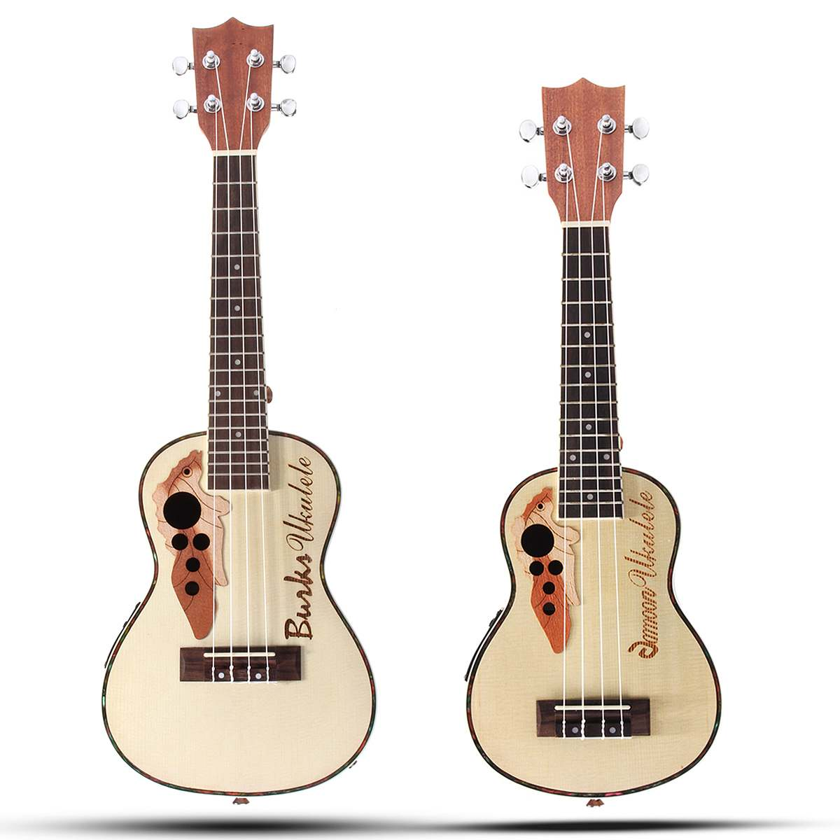 21 23 Inch 4 Strings Concert Ukulele Electric Acoustic Ukulele Hawaii Guitar Spruce Portable Mini Guitar Instrumentos Musicais