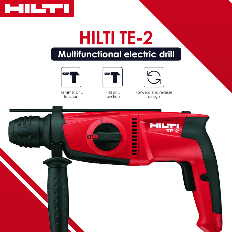 HILTI Eletrica Hammer Drill High Quality Professional Multifunction Powerful Impact Drill Power tool 220V Electric Rotary Hammer
